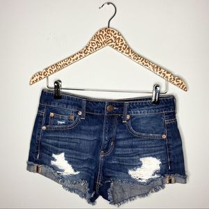 American Eagle Tomgirl Distressed Jean Shorts